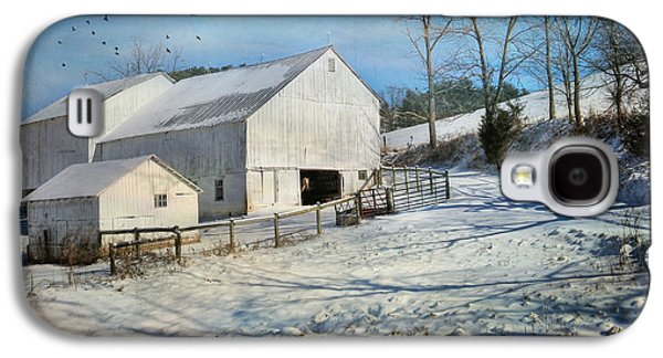 Rural Scenes Digital Galaxy S4 Cases - Baby Its Cold Outside Galaxy S4 Case by Lori Deiter
