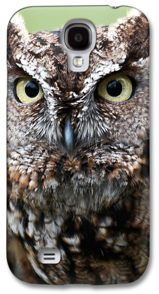 Barn Pen And Ink Galaxy S4 Cases - Baby Owl Eyes Galaxy S4 Case by Athena Mckinzie