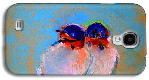 Swallow Chicks Galaxy S4 Cases - Baby Swallows Galaxy S4 Case by Sue Jacobi