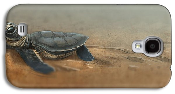 Reptiles Digital Galaxy S4 Cases - Baby Turtle Galaxy S4 Case by Aaron Blaise