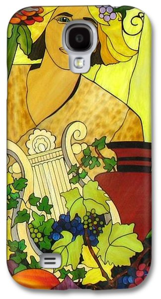 God Glass Art Galaxy S4 Cases - Baccus Galaxy S4 Case by Suzanne Tremblay