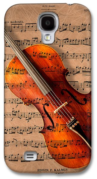 Music Photographs Galaxy S4 Cases - Bach on Cello Galaxy S4 Case by Sheryl Cox