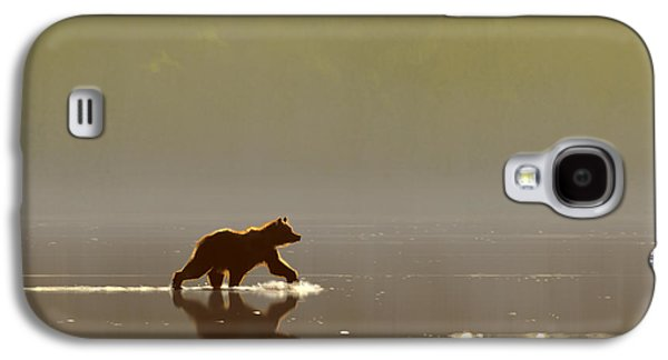 Bear Digital Galaxy S4 Cases - Back Lit Grizzly Galaxy S4 Case by Aaron Blaise