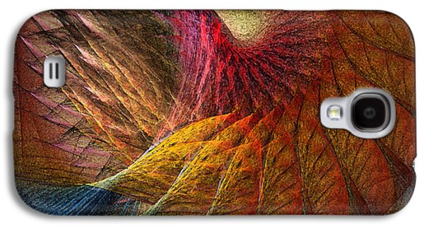 Modern Abstract Galaxy S4 Cases - Back on Earth Abstract Art Print Galaxy S4 Case by Karin Kuhlmann