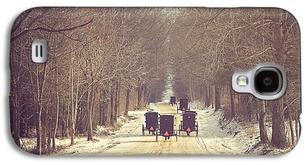 Winter Landscapes Galaxy S4 Cases - Backroad Buggies Galaxy S4 Case by Carrie Ann Grippo-Pike