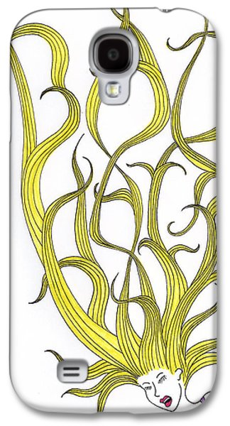 Bad Drawing Galaxy S4 Cases - Bad Hair Day Galaxy S4 Case by Christy Beckwith