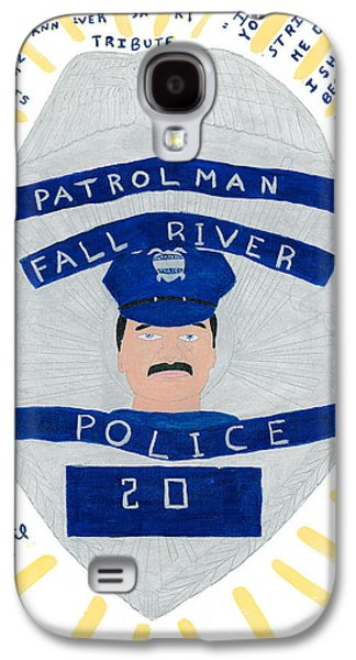 Police Paintings Galaxy S4 Cases - Badge of Courage Galaxy S4 Case by Dennis ONeil