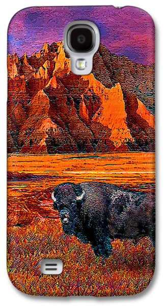 Bison Digital Galaxy S4 Cases - Badlands Bison American Icon Galaxy S4 Case by Michele  Avanti