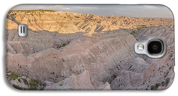 Landscapes Photographs Galaxy S4 Cases - Badlands National Park Color Panoramic Galaxy S4 Case by Adam Romanowicz