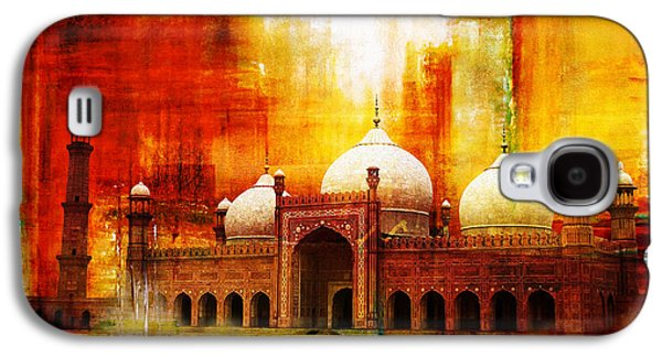 Museum Paintings Galaxy S4 Cases - Badshahi Mosque or The Royal Mosque Galaxy S4 Case by Catf