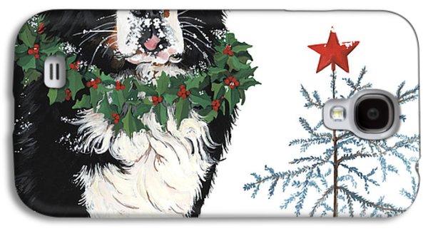 Humbug Galaxy S4 Cases - Bah humb Merry Christmas Galaxy S4 Case by Liane Weyers