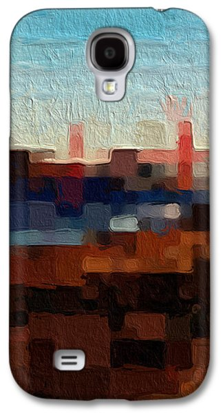 """abstract Art"" Galaxy S4 Cases - Baker Beach Galaxy S4 Case by Linda Woods"