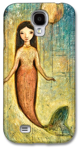 Little Girls Mixed Media Galaxy S4 Cases - Balance Galaxy S4 Case by Shijun Munns