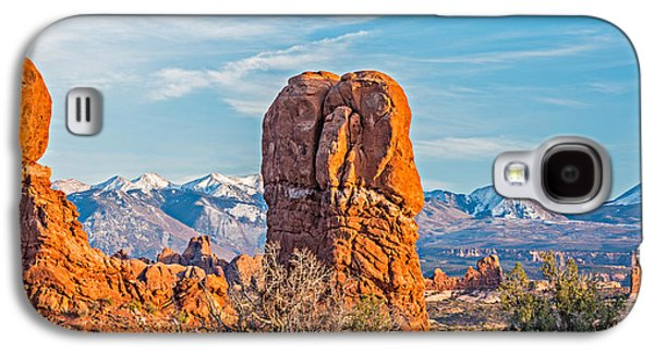 National Galaxy S4 Cases - Balanced Rock and La Sal Mountains Galaxy S4 Case by Duane Miller