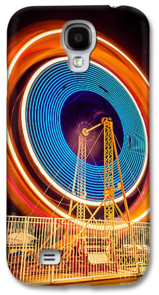 Balboa Fun Zone Ferris Wheel At Night Picture Galaxy S4 Case by Paul Velgos