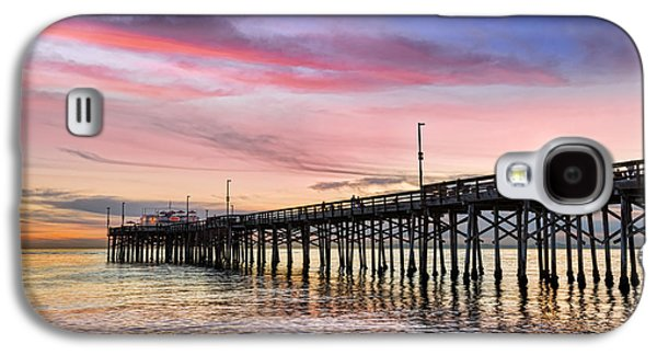 Kelley King Galaxy S4 Cases - Balboa Pier Sunset Galaxy S4 Case by Kelley King