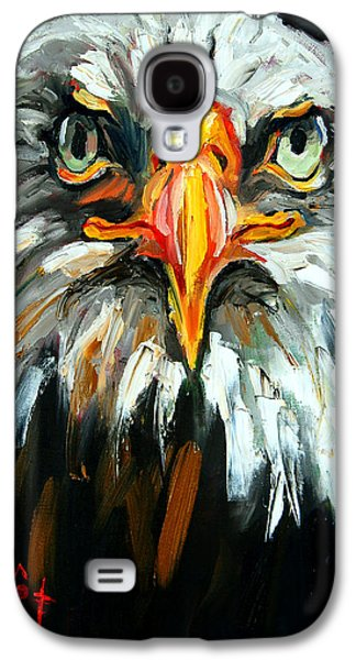 Yellow Beak Paintings Galaxy S4 Cases - Bald And Bald Galaxy S4 Case by Carole Foret