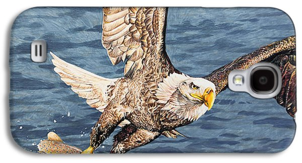 Photorealistic Galaxy S4 Cases - Bald Eagle fishing  Galaxy S4 Case by Aaron Spong