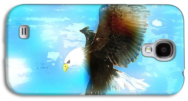Eagle Mixed Media Galaxy S4 Cases - Bald Eagle In Flight Galaxy S4 Case by Arline Wagner