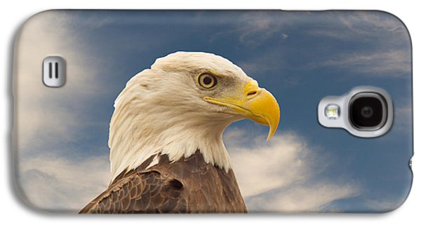 Preditor Galaxy S4 Cases - Bald Eagle with Piercing Eyes 1 Galaxy S4 Case by Douglas Barnett