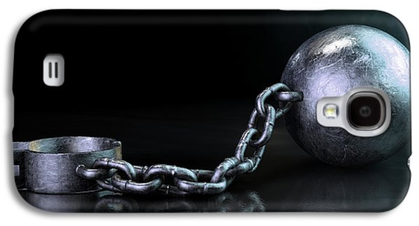 Slavery Digital Art Galaxy S4 Cases - Ball And Chain Dark Galaxy S4 Case by Allan Swart