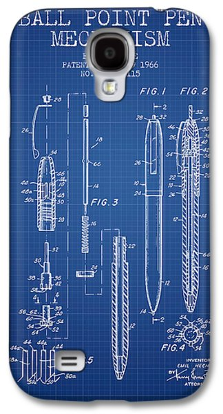 Pencil Digital Galaxy S4 Cases - Ball Point Pen mechansim patent from 1966 - Blueprint Galaxy S4 Case by Aged Pixel