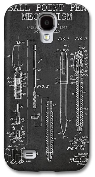 Pencil Digital Galaxy S4 Cases - Ball Point Pen mechansim patent from 1966 - Charcoal Galaxy S4 Case by Aged Pixel