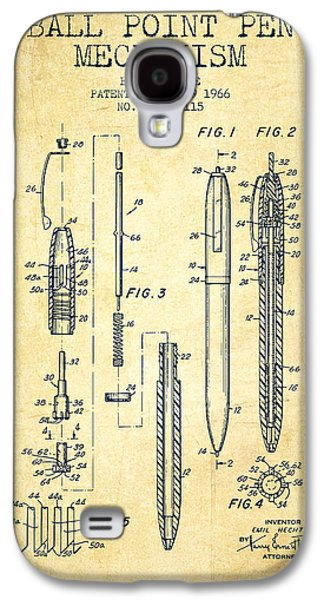 Pencil Digital Galaxy S4 Cases - Ball Point Pen mechansim patent from 1966 - Vintage Galaxy S4 Case by Aged Pixel