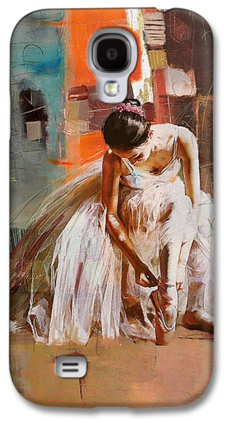 Ballet Dancers Paintings Galaxy S4 Cases - Ballerina 20 Galaxy S4 Case by Mahnoor Shah