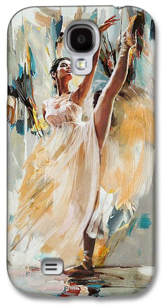 Ballet Dancers Paintings Galaxy S4 Cases - Ballerina 24 Galaxy S4 Case by Mahnoor Shah