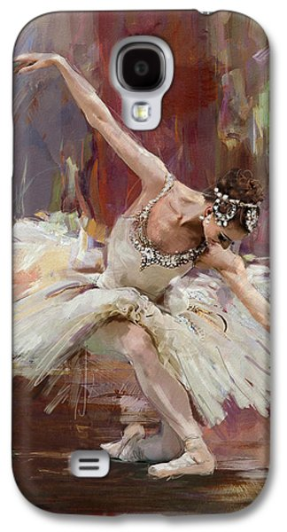 Ballet Dancers Paintings Galaxy S4 Cases - Ballerina 36 Galaxy S4 Case by Mahnoor Shah