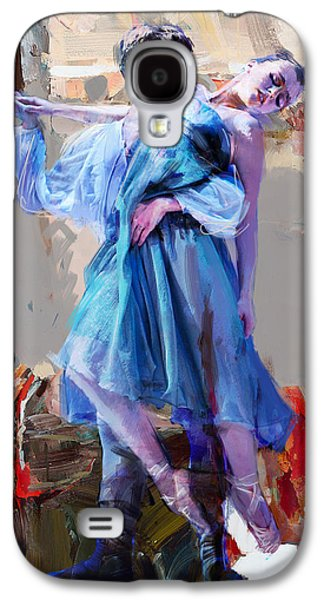 Ballet Dancers Paintings Galaxy S4 Cases - Ballerina 37 Galaxy S4 Case by Mahnoor Shah