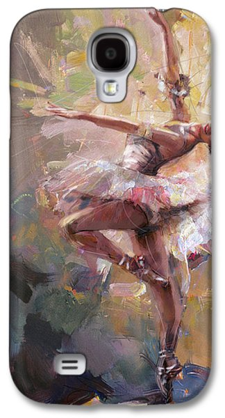 Ballet Dancers Paintings Galaxy S4 Cases - Ballerina 40 Galaxy S4 Case by Mahnoor Shah