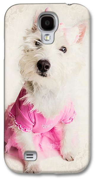 Ballerina Dog Galaxy S4 Case by Edward Fielding