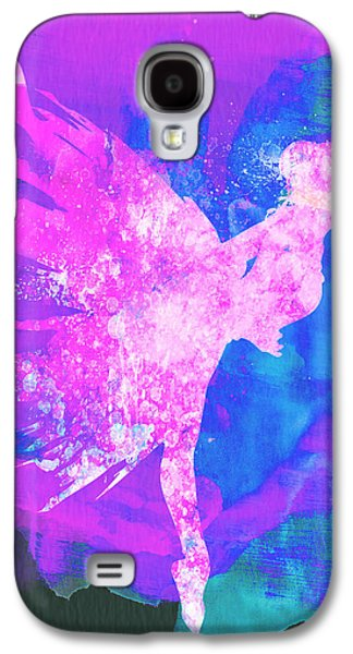 Young Mixed Media Galaxy S4 Cases - Ballerina on Stage Watercolor 1 Galaxy S4 Case by Naxart Studio