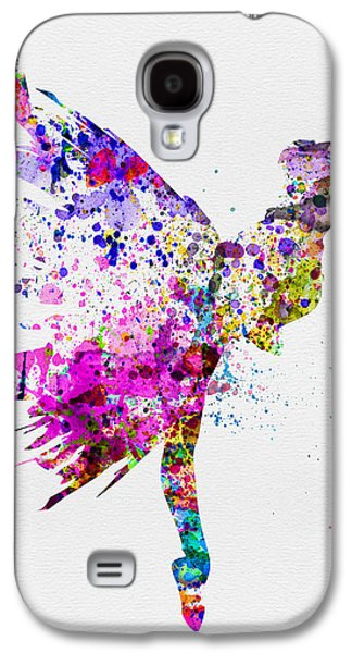 Entertainment Galaxy S4 Cases - Ballerina on Stage Watercolor 3 Galaxy S4 Case by Naxart Studio