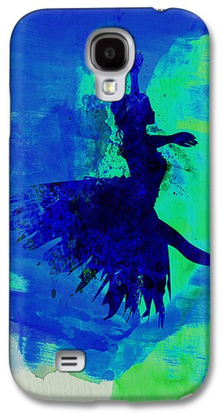 Young Mixed Media Galaxy S4 Cases - Ballerina on Stage Watercolor 5 Galaxy S4 Case by Naxart Studio