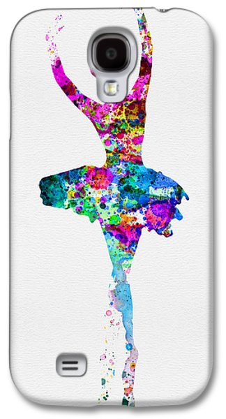 Ballerinas Galaxy S4 Cases - Ballerina Watercolor 1 Galaxy S4 Case by Naxart Studio