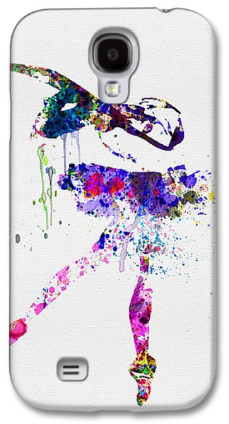 Ballet Dancers Digital Art Galaxy S4 Cases - Ballerina Watercolor 2 Galaxy S4 Case by Naxart Studio