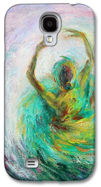 Stage Paintings Galaxy S4 Cases - Ballerina Galaxy S4 Case by Xueling Zou