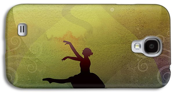 Abstract Digital Mixed Media Galaxy S4 Cases - Ballet In Solitude - Color Verde Galaxy S4 Case by Bedros Awak