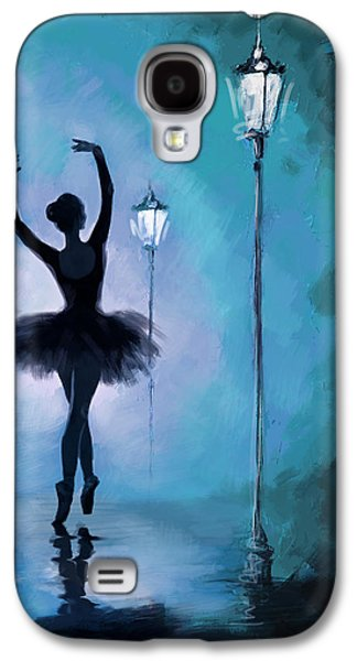 Ballerinas Galaxy S4 Cases - Ballet in the Night  Galaxy S4 Case by Corporate Art Task Force