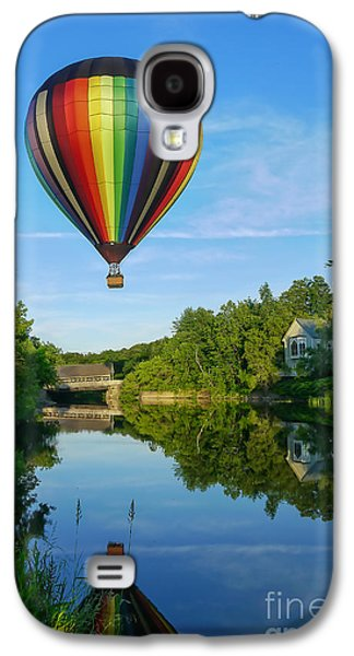 Raising Galaxy S4 Cases - Balloons over Quechee Vermont Galaxy S4 Case by Edward Fielding