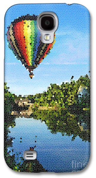 Raising Galaxy S4 Cases - Balloons over Quechee Vermont Stain Glass Galaxy S4 Case by Edward Fielding
