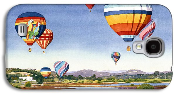 Balloons Galaxy S4 Cases - Balloons over San Elijo Lagoon Encinitas Galaxy S4 Case by Mary Helmreich
