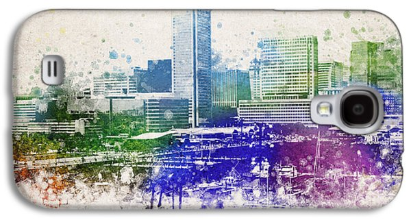 Baltimore City Skyline Galaxy S4 Case by Aged Pixel