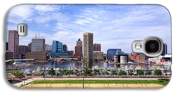 Volley Galaxy S4 Cases - Baltimore Inner Harbor Beach Galaxy S4 Case by Olivier Le Queinec