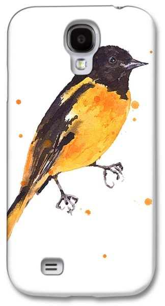Baltimore Galaxy S4 Cases - Baltimore Oriole Beauty Galaxy S4 Case by Alison Fennell