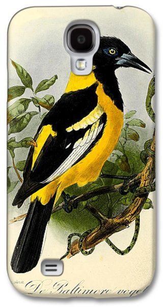 Baltimore Oriole Galaxy S4 Case by J G Keulemans