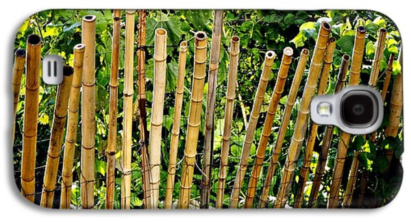 Bamboo Fence Galaxy S4 Cases - Bamboo Fencing Galaxy S4 Case by Lilliana Mendez